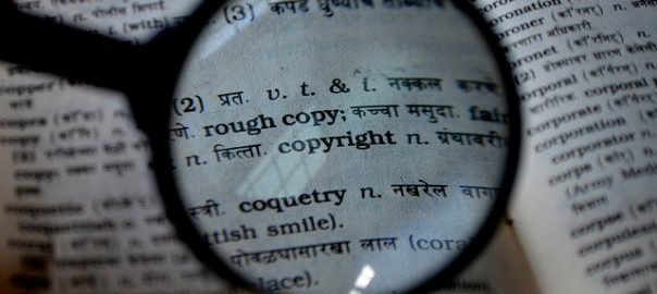 copyright under magnifying glass